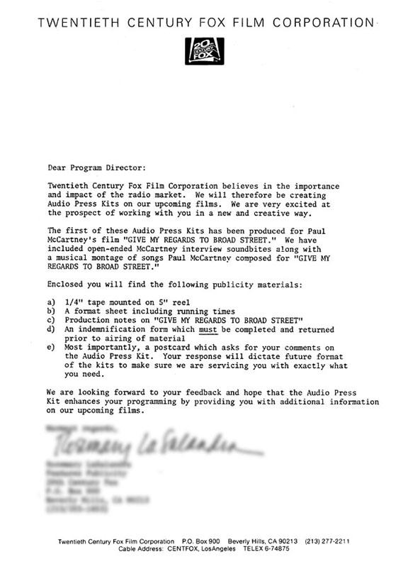 Band press kit cover letter